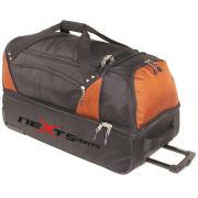 Rolling Wheel Trolley Sport Gear Travel Duffel Luggage Weekend Bag