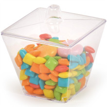 Taza de plástico Copa desechable taza de postre con tapa