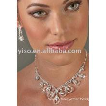 9 Loop rhinestone jewelry set
