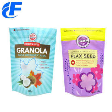 Granola Packaging Zipper Digital Printed Stand Up Pouches