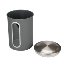 Stainless Steel Coffee Canister With Window