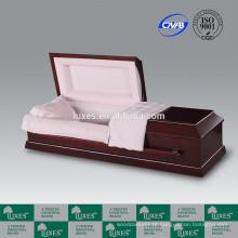 LUXES estilo americano Rodeway Funeral do caixão caixões de madeira e Metal