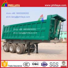 Heavy Duty 3-Axle Hydraulic Rear Dump Semi Truck Trailer