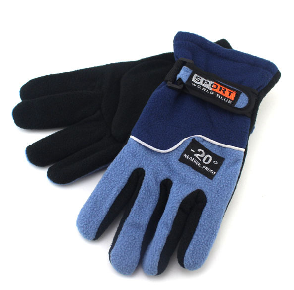 Double Layer Polar Fleece Gloves