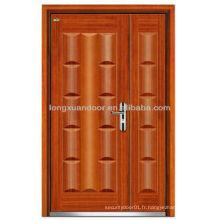 Portes d'entrée d'appartement, porte blindée en bois en acier de maman