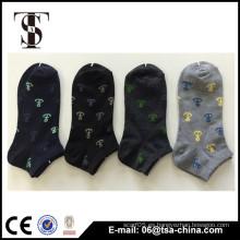 Pequeños jacquard ciruela y kaki mujeres casual algodón suelto calcetines