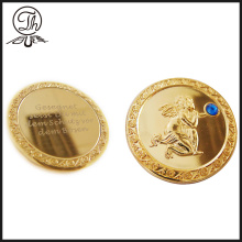 Mint Gold mirror angel metal coins