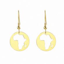 Africa map africa girl earrings wooden african earrings hollow pendant earrings