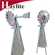 Moulin à vent décoratif de jardin en métal gris 8FT