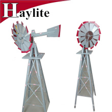 8FT gray metal garden decorative windmill