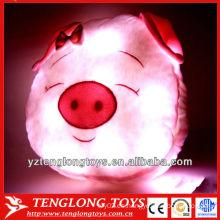 2014 nuevo diseño lindo cerdo en forma de almohadas de luz brillante de la noche