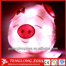 2014 новый дизайн милый свиной формы ночь яркий свет подушки