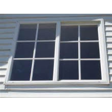 Single Hung Vinyl Vertical Sliding Window with Grils