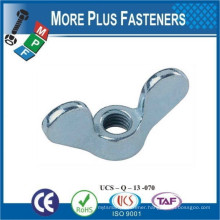 Made in Taiwan Plain Stainless Steel Wing Nut 304 A2 DIN 315 Sizes M4 M5 M6 M8 M10 M12 M16 M20