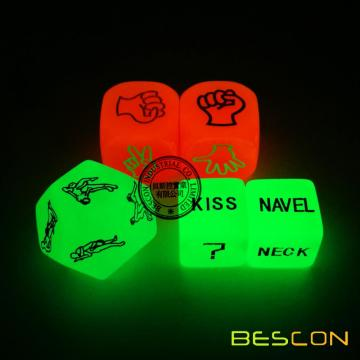 Love Dice Lover Posición Sexo Luminous Dice Set para Parejas Adultas Dirty Dice Game Divertidos Juguete Sexo Juegos
