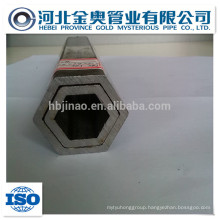 china manufacturer hollow hexagonal steel pipe/tube