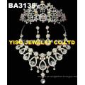Conjunto personalizado de jóias de cristal