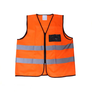 Customized Reflective Safety Vest with Zipper