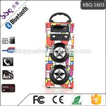 Support USB, TF card, Aux-in, FM, Bluetooth Retro Portable karaoke speaker system