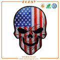 USA Flag Skull bordado patch custom