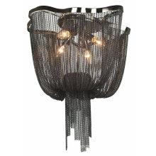 custom-made design metal aluminum chain chandelier silver black pendant lamp chandeliers for living room
