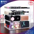 Dulex Plexiglass Makeup Organizer Acrylic Cosmetic 4 Drawer