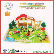 Hot Sale Wooden Zoo Preschool Toy, Wooden Animal Zoo Kids Preschool Toys