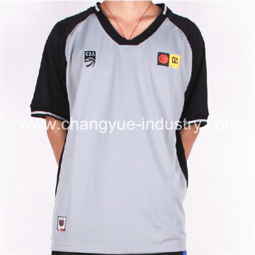 latest design basketball jersey with the referee uniform