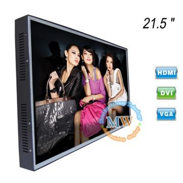 1920 * 1080 résolution 21,5 pouces moniteur LCD HDMI VGA DVI avec cadre ouvert sans cadre