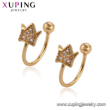 95795 Xuping Jewelry beautiful design trend crown shape earrings for ladies