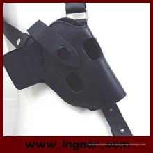 Cuero táctico Airsoft Paintball Tiro caza axila hombro pulgar rotura pistola pistolera 654k bolsa del Mag