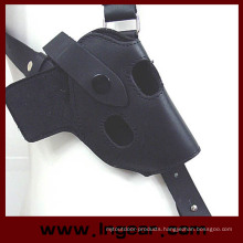 Leather Tactical Airsoft Paintball Shooting Hunting Armpit Shoulder Thumb Break Pistol Holster 654k Mag Pouch