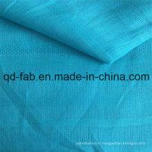 Tissu en lin en tissu jacquard bleu (QF16-2473)