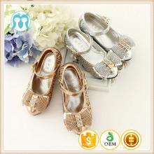 Kinder Schuhe 2017 Pailletten Mädchen High Heel Schuhe hohe Qualität Gold und Silber Mode Mädchen Kleid Schuhe