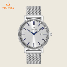 Men′s Casual Watches Mesh Band Quartz Watch with Calendar 72392