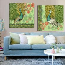 Arte da parede Peacock Painting Canvas para Home Deco