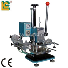 Manual leather embossing machine