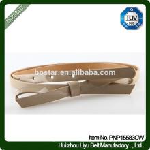 Cinto de PU para mulheres Cintura de vestido Cintos Skinny Moda Mulheres Ceinture Beige Bowknot Wholesale Factory