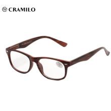 Gafas de lectura de grano de madera de moda clásica cumplen con CE.FDA