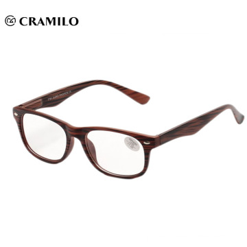 Classic fashionable wood grain reading glasses meet CE.FDA