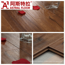 Click System Handscraped Grain Surface Laminate Flooring (AS0007-17)
