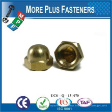 Made in Taiwan Stainless Steel Brass Aluminium Silicone Bronze Hexagon Cup Nuts DIN 917