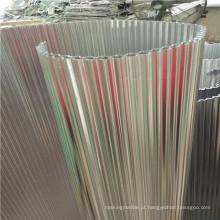 Corrugado Alumínio Núcleos