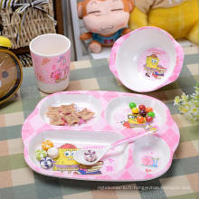 (BC-MK1013) Fashinable Design réutilisable Melamine 4PCS Kids Cute Dinner Set