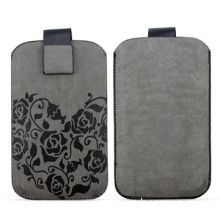 PU Leather Case for Apple's iPhone 4, with Magnetic Button Closure, OEM Orders are Welcome