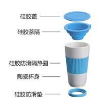 Taza de porcelana con embudo de té