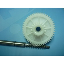 teflon spur gear and stainless steel shaft