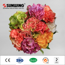 Arreglos de flores artificiales de Italia Rose Bouquet de 8 cm de diámetro