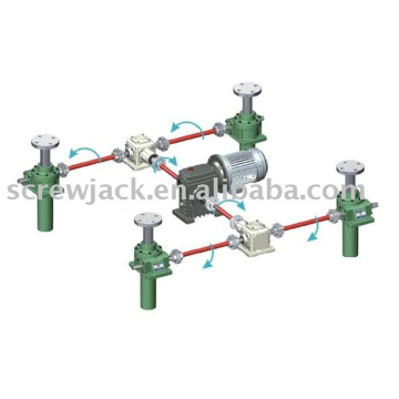 motorized vertical stage high capacity acme screw jacks