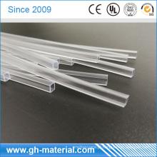 Tubo impermeável transparente quadrado do PVC para a luz de tira do diodo emissor de luz 3528